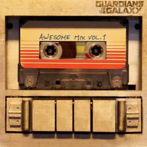 From the movie Guardians of the Galaxy, the mix tape that plays a role in the lead character.