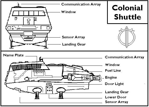 Schematics Colonial Shuttle Alien Soup