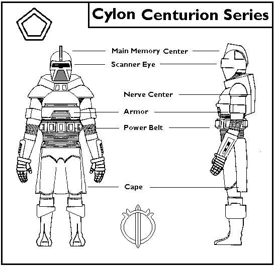 Schematics Cylon Centurion Alien Soup